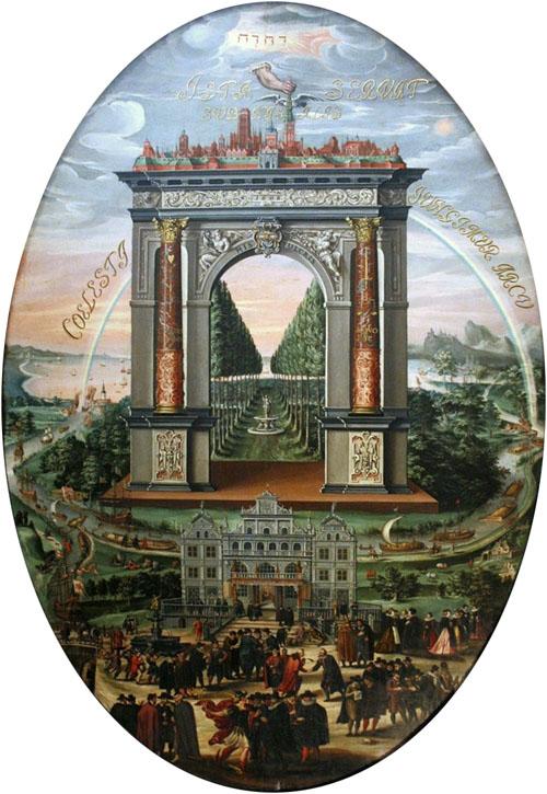 """Izaak van den Blocke, """"Apoteoza Gdańska"""", 1608, Sala Czerwona, Ratusz Głównego Miasta w Gdańsku, fot. Wikipedia"""