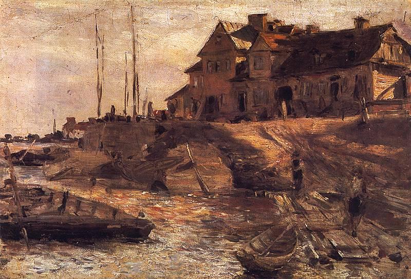 """Aleksander Gierymski, """"Przystań na Solcu"""", olej, płótno, 1883, fot. Wikipedia/domena publiczna"""