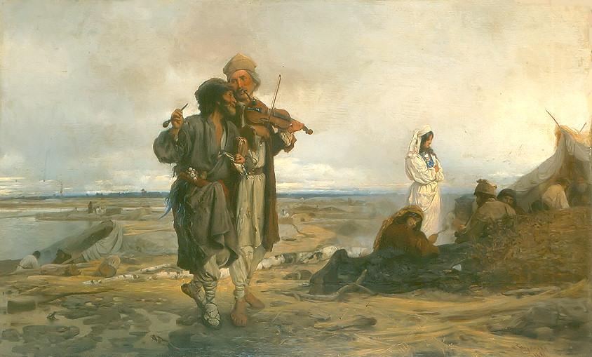 """Wilhelm August Stryowski """"Flisacy nad Wisłą"""", 1881, fot. Wikipedia"""