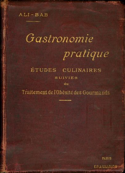 """Gastronomie pratique"", okładka"