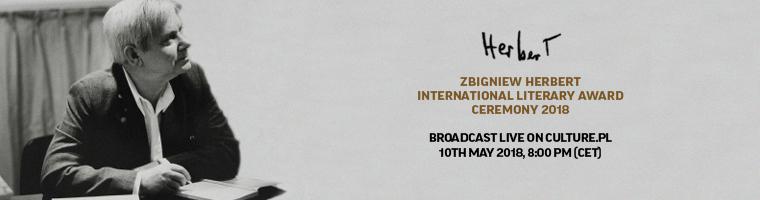 The Zbigniew Herbert International Literary Award 2018