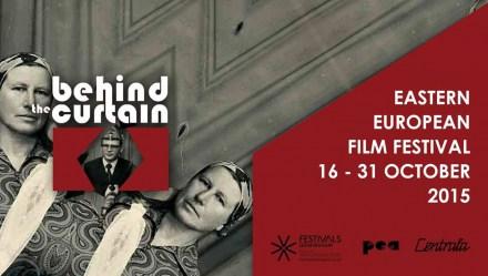 Banner for Behind the Curtain Eastern European Film Festival 2015. Photo: behindthecurtain.eu