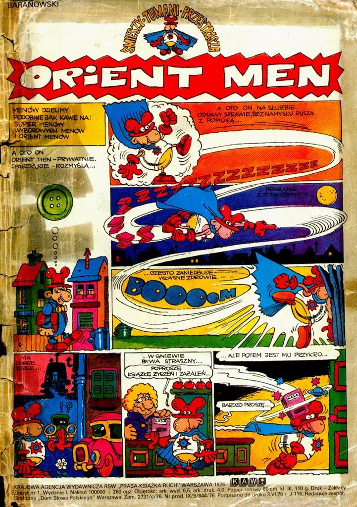 Orient Men to bohater jednego z komiksów Tadeusza Baranowskiego