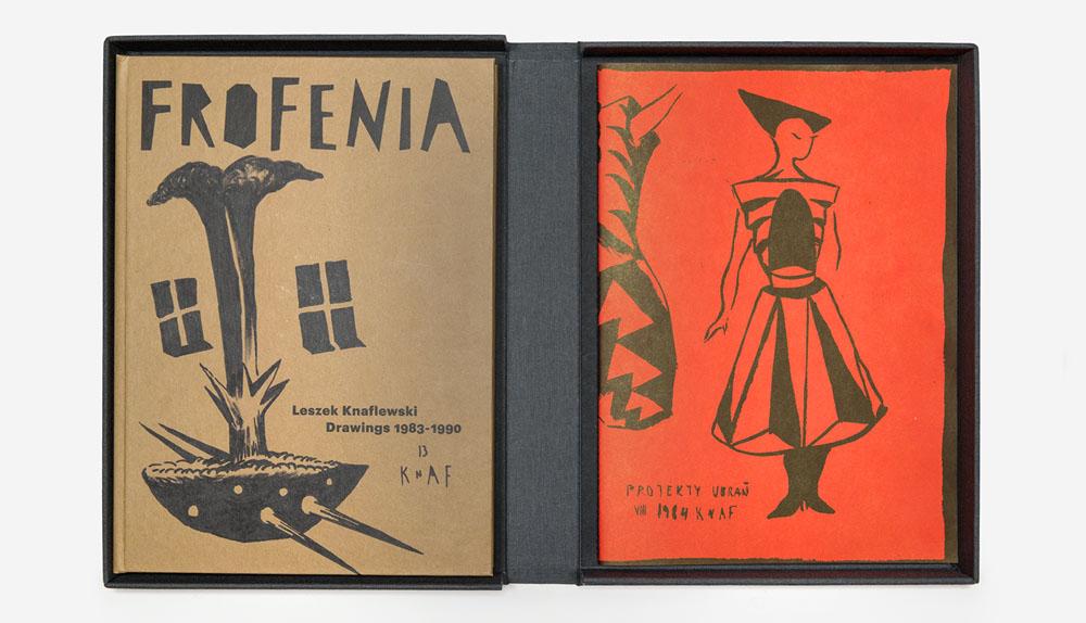 """Project by Honza Zamojski: """"Frofenia. Leszek Knaflewski. Illustrations 1983-1990"""", publisher: Mundin, 2013, photo: Małgorzata Turczyńska / Print Control no.3"""