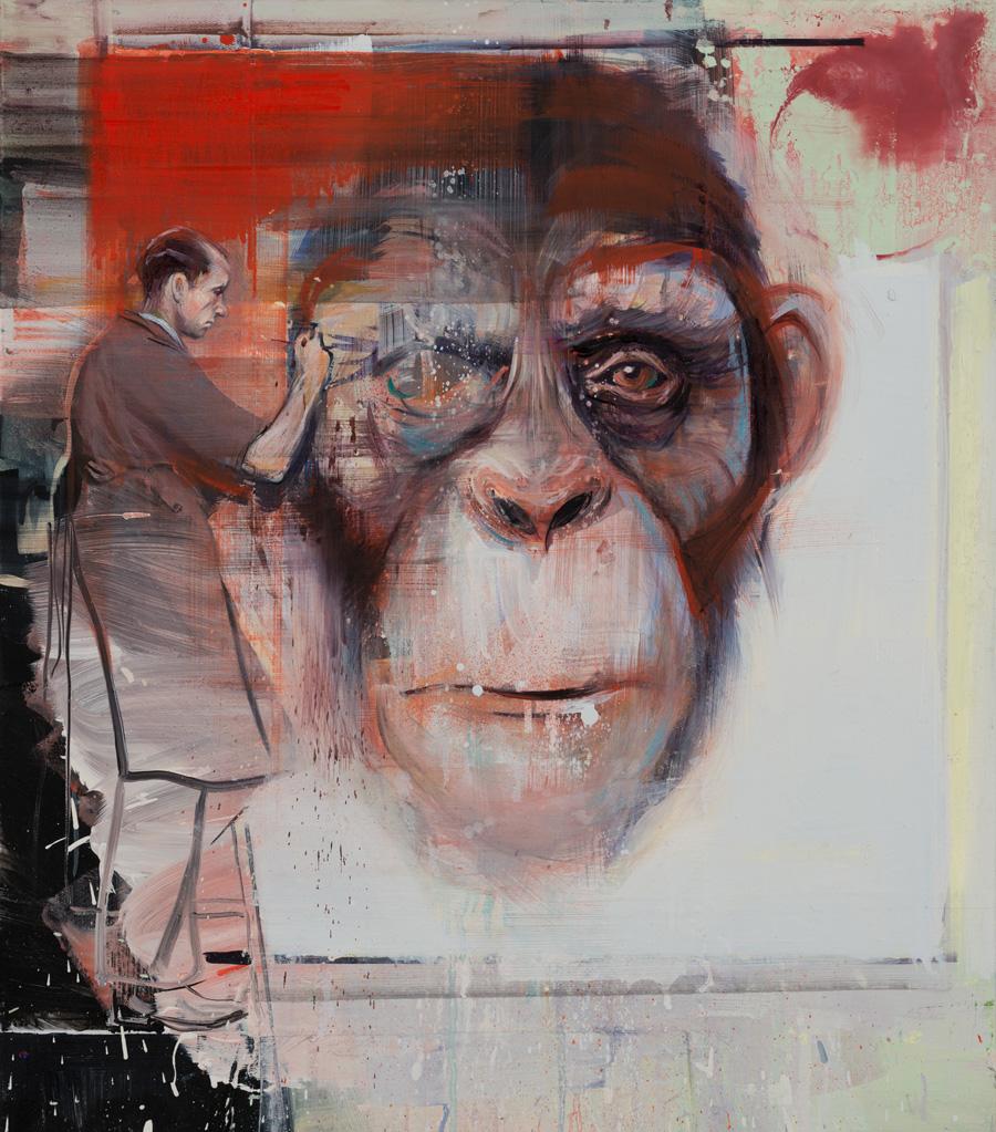 """Radek Szlaga, obraz z cyklu """"All the Brutes"""", fot. dzięki uprzejmości galerii LETO"""