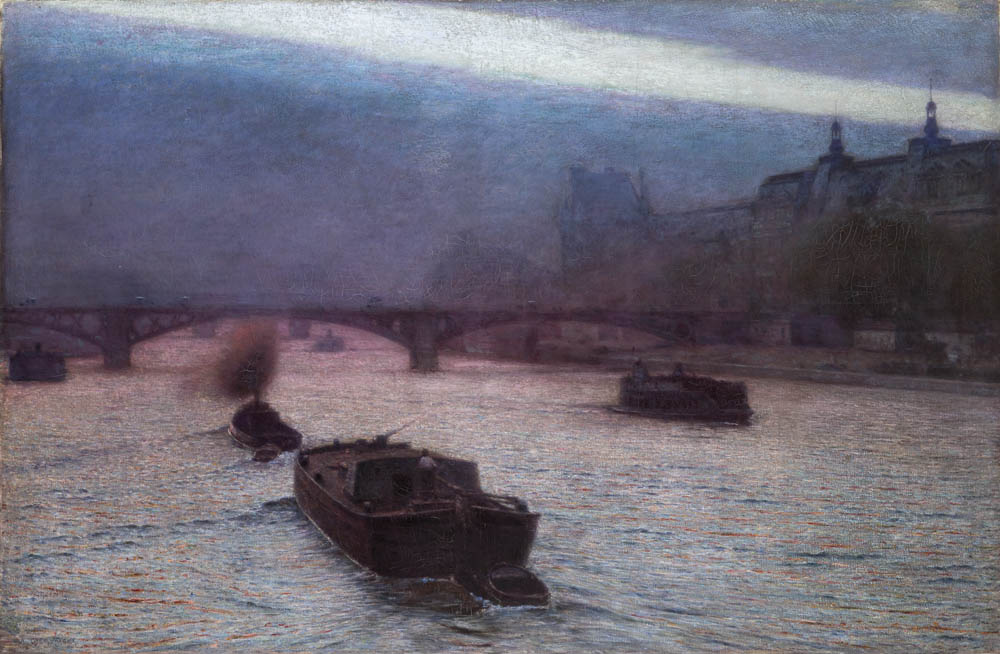 Aleksander Gierymski, Evening on the Seine,1893, oil on canvas, 27.5 x 20.5 cm, photo: National Museum in Kraków