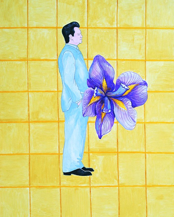 """Ryszard Woźniak, """"Kandydat na Prezydenta"""", 2000, aktyl, 200 x 160, fot. dzięki uprzejmości artysty"""