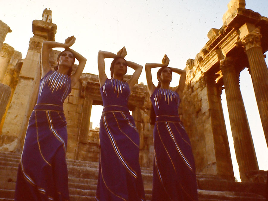 """Baalbek festival, Lebanon, 1970, photograph from Anna Dabrowska's project """"A Lebanese Archive"""", 2013, photo from the collection of Diab Alkarssifi/ Book Works"""