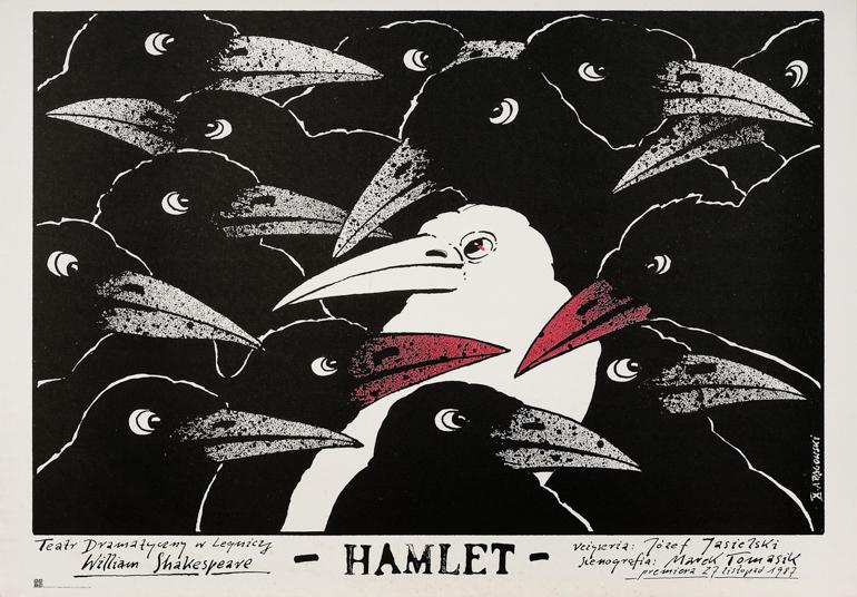 """""""Hamlet"""" dla teatru w Legnicy, 1987, fot. dzięki uprzejmości Andrzeja Pągowskiego"""