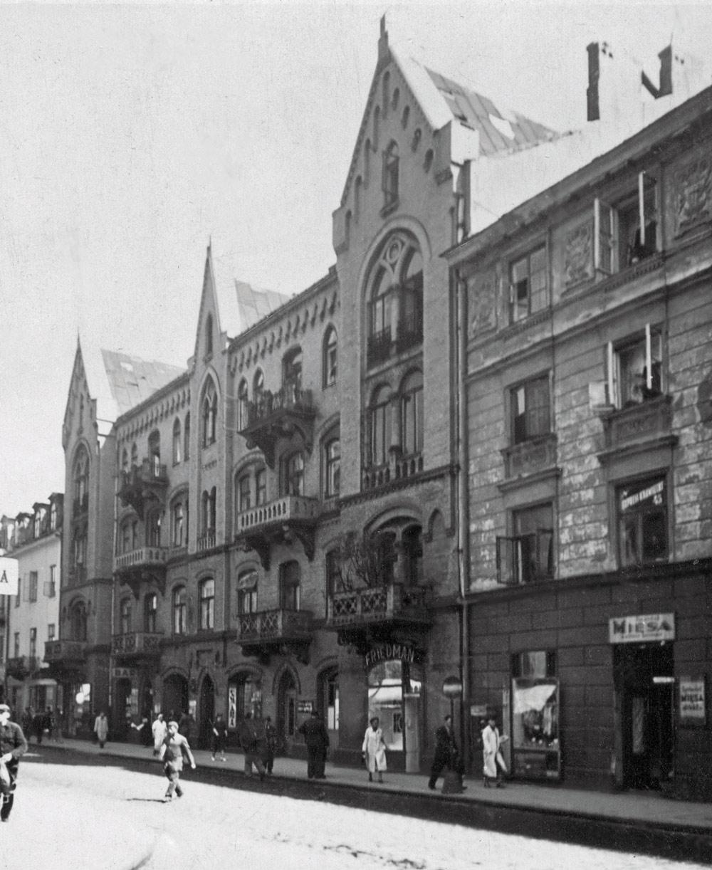 Chmielna 43, fragment domu przy Chmielnej 41, 1938 rok. Fot. APW/Referat Gabarytów