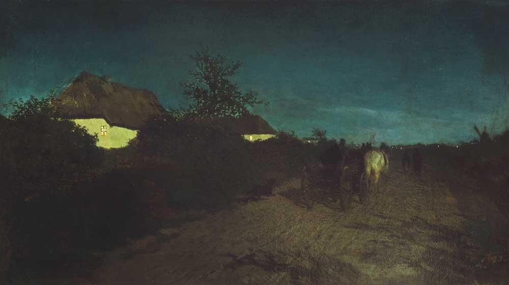 """Maksymilian Gierymski, """"Noc"""", 1872-1873, wł. Muzeum Narodowe w Warszawie, fot. Elżbieta Gawryszewska"""