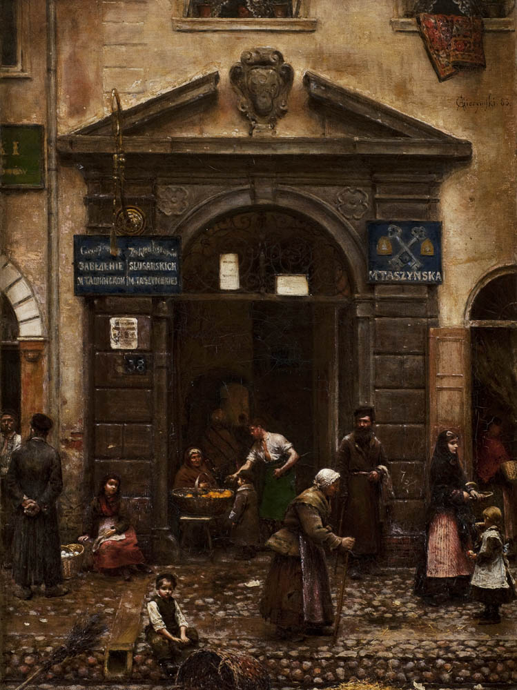 Aleksander Gierymski, Old Town Gate, 1883, oil on canvas, 64 x 49 cm, photo: Art Museum in Łódź