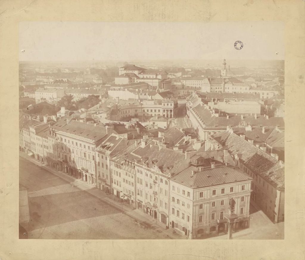 "Konrad Brandel, part of Warsaw's panorama ""taken from the top of the castle tower from 134 cubits above the pavement"", 26 August 1873, photo: National Museum of Warsaw"