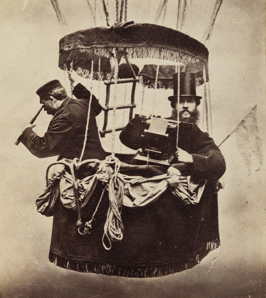 Konrad Brandel, autoportret w gondoli balonu, 1865. Muzeum Narodowe w Warszawie