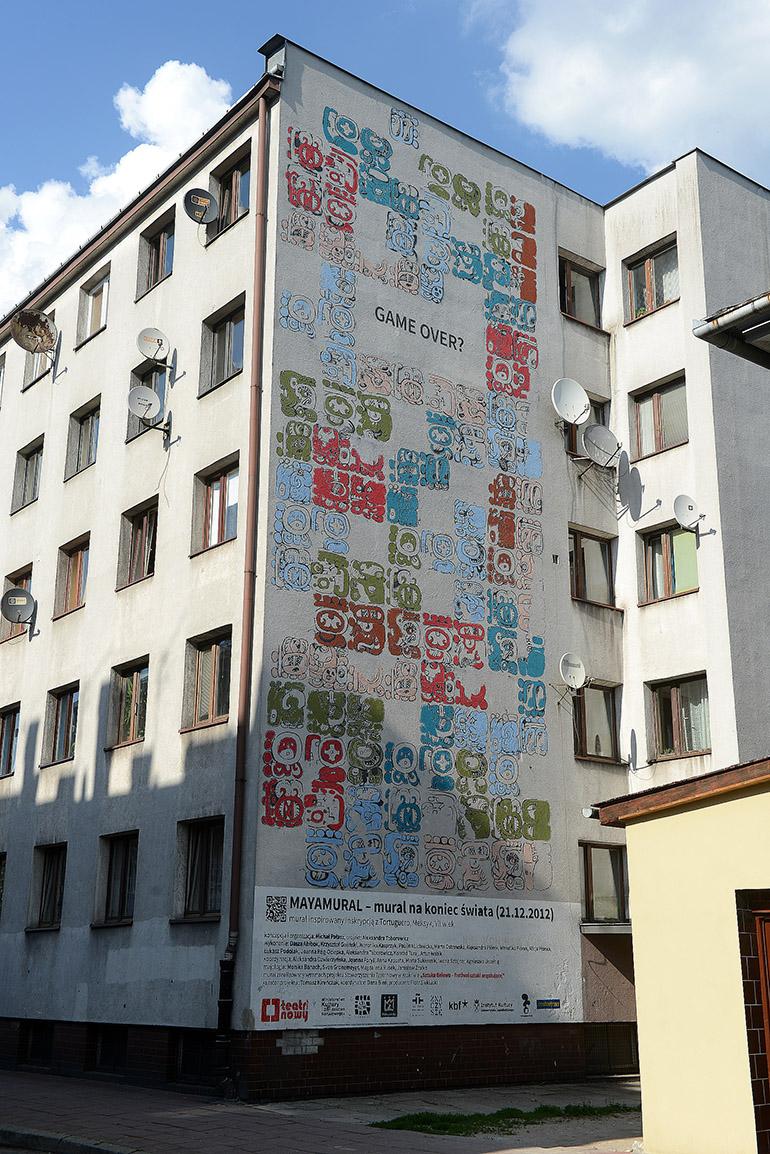 """Aleksandra Toborowicz, """"Maya"""", mural, Kraków, fot. dzięki uprzejmości Mall Wall Art"""