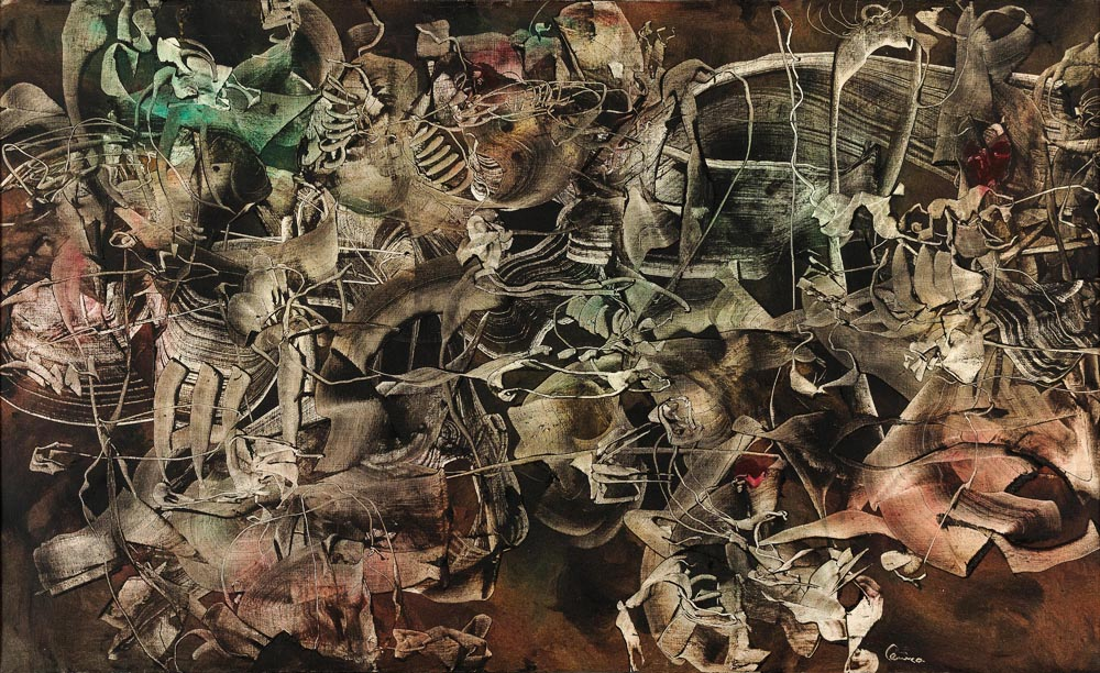 Alfred Lenica, Fobia II (Phobia II), 1962, oil on canvas,  146 × 89 cm, photo: Piotr Hrehorowicz / National Museum in Wrocław