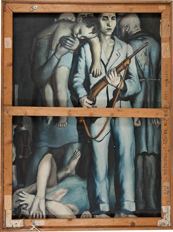 """Andrzej Wróblewski, """"Likwidacja getta"""", 1949, fot. dzięki uprzejmości Fundacji Andrzeja Wróblewskiego"""