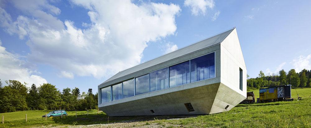 """""""Arka Koniecznego"""" - dom własny architekta, projekt: Robert Konieczny, Łukasz Marciniak, fot. Juliusz Sokołowski / KWK PROMES"""