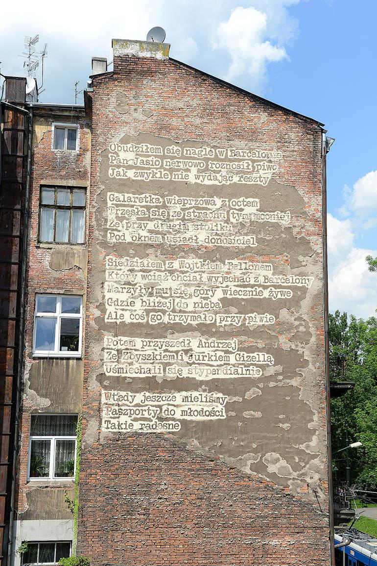 """Bartolomeo Koczenasz, """"Barcelona"""", mural, Kraków, fot. dzięki uprzejmości Mall Wall Art"""