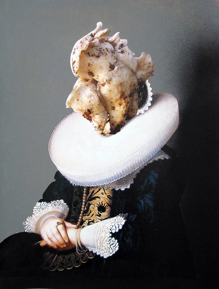Ewa Juszkiewicz, bez tytułu, akryl, kolaż na papierze, 30 x 40 cm, 2013, fot. dzięki uprzejmości artystki i lokalu_30