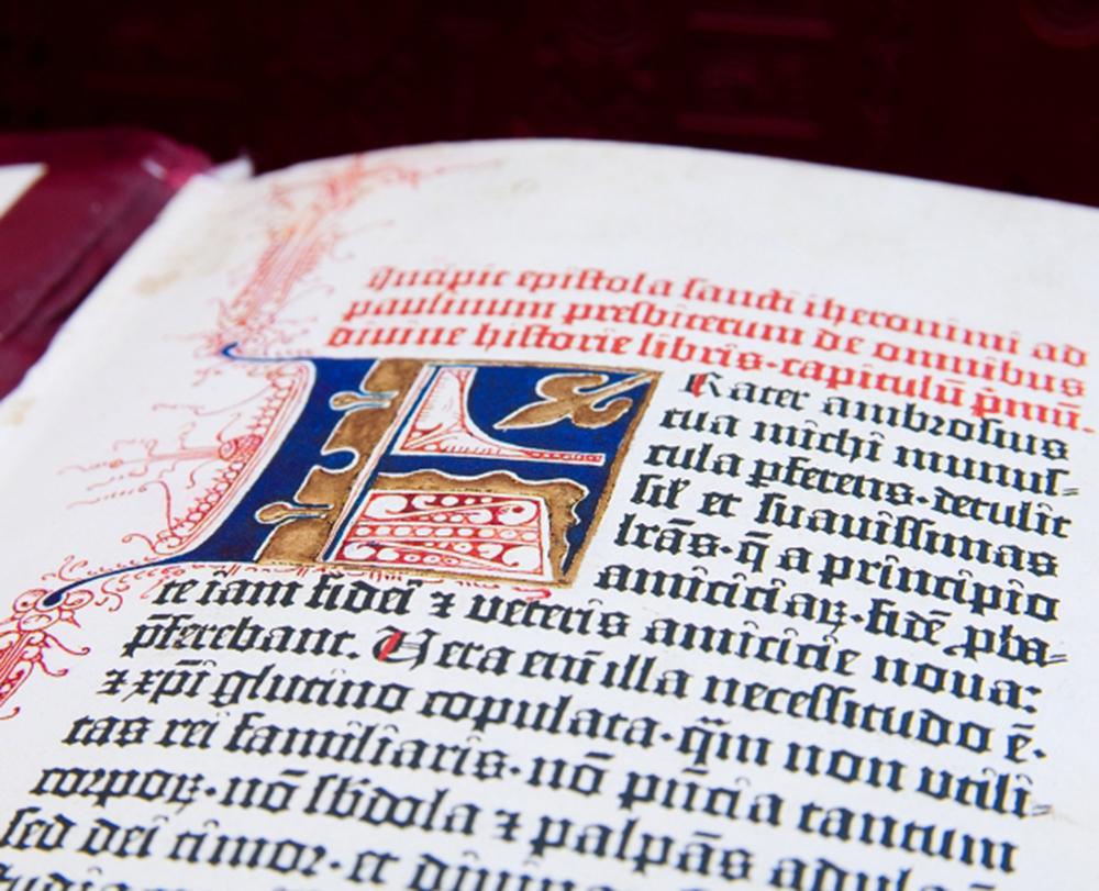 Reprodukcja Biblii Gutenberga, fot. Dom Emisyjny Manuscriptum