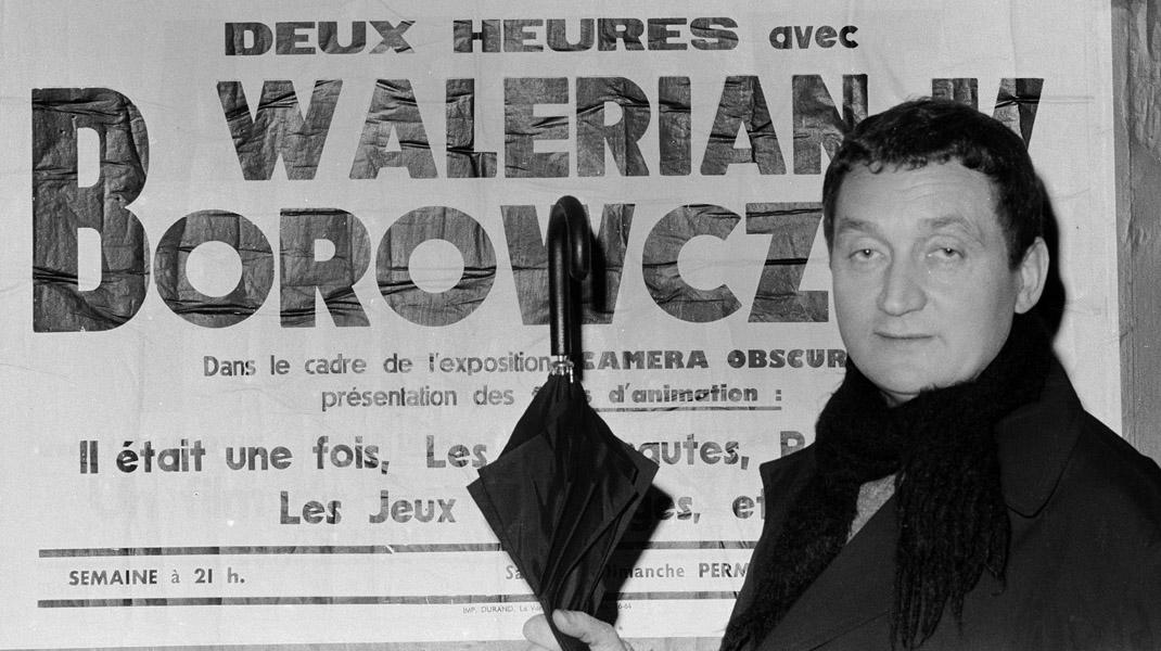 Walerian Borowczyk, Paryż, 1965, fot. Wladysław Sławny / Forum