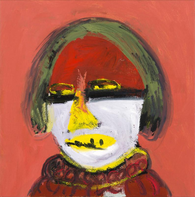 "Carla Busuttil, ""Head Full of Glue"", 2014, olej na płótnie, 50 x 60 cm, fot. materiały promocyjne"