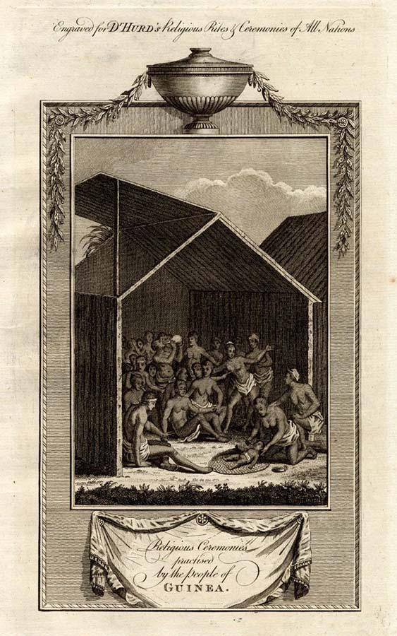 Religious ceremonies by people of Guinea, 1790. Photo: Le Guern Gallery