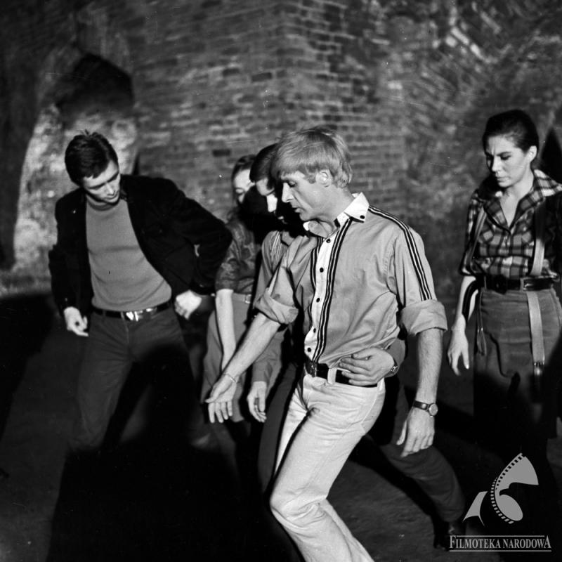 """Conrad Drzewiecki w filmie """"Mocne uderzenie"""", 1966 r., fot. Jerzy Troszczyński / Filmoteka Narodowa"""