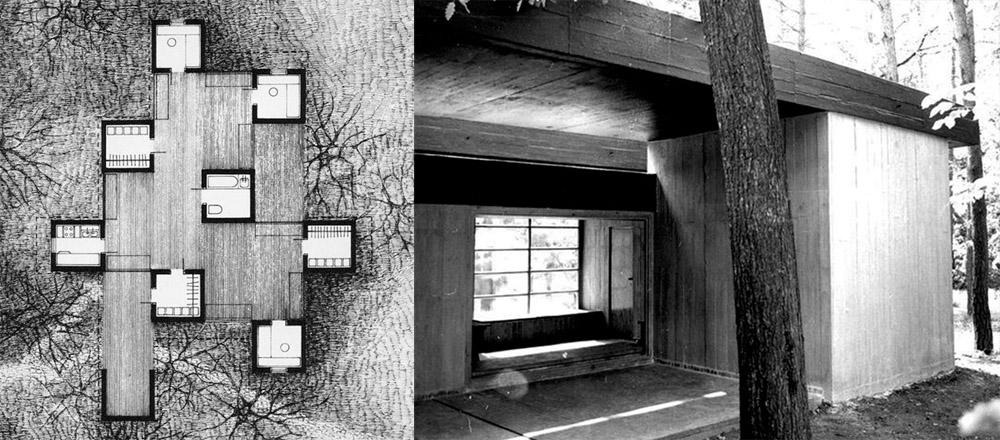 Dom Jana Szpakowicza, Zalesie Dolne, 1971, fot. Jan Szpakowicz