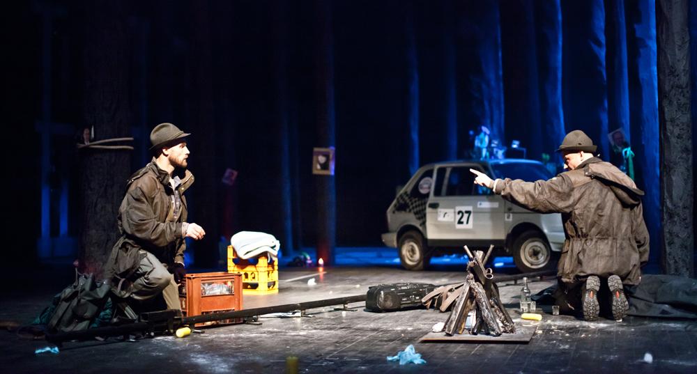 """Scena z przedstawienia """"Dziady"""" w reżyserii Michała Zadary, fot. Natalia Kabanow / Teatr Polski we Wrocławiu"""