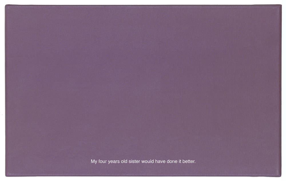 """Kamil Kuskowski, """"Obraza 1"""" (projekt), 2014 z cyklu """"Obrazy obraz"""", akryl, płótno; 50 x 80 cm, Galeria """"m²"""", fot. WGW"""
