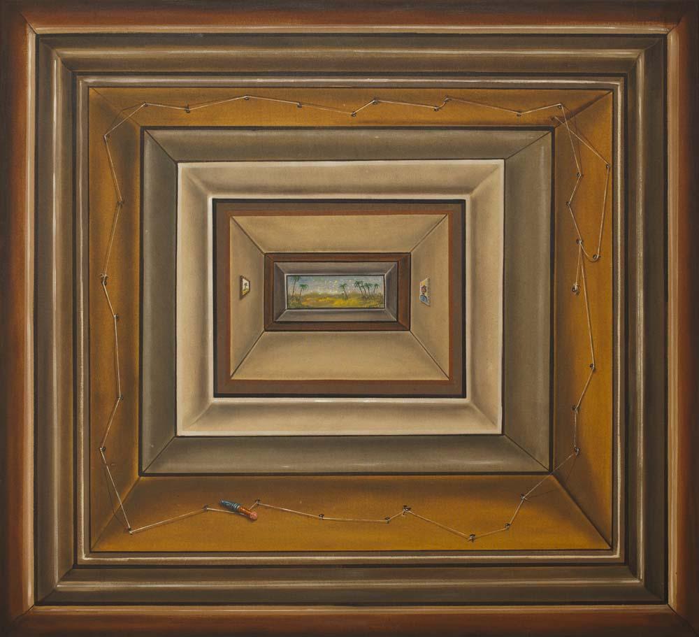 """Jakub Julian Ziółkowski, """"Bez tytułu"""", 2013 olej na płótnie, 80 x 88 cm, Fundacja Galerii Foksal, fot. WGW"""