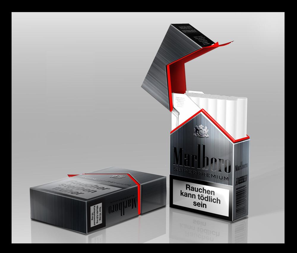 Marlboro package designed by Janusz Kaniewski. Photo: Courtesy of Janusz Kaniewski Design