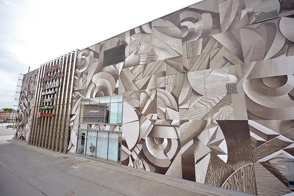 Justyna Posiecz-Polkowska, mural, Kraków, fot. dzięki uprzejmości Mall Wall Art
