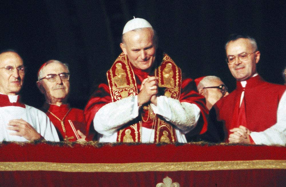 Karol Wojtyła after being elected as the Pope, Vatican, 1978, photo: Forum