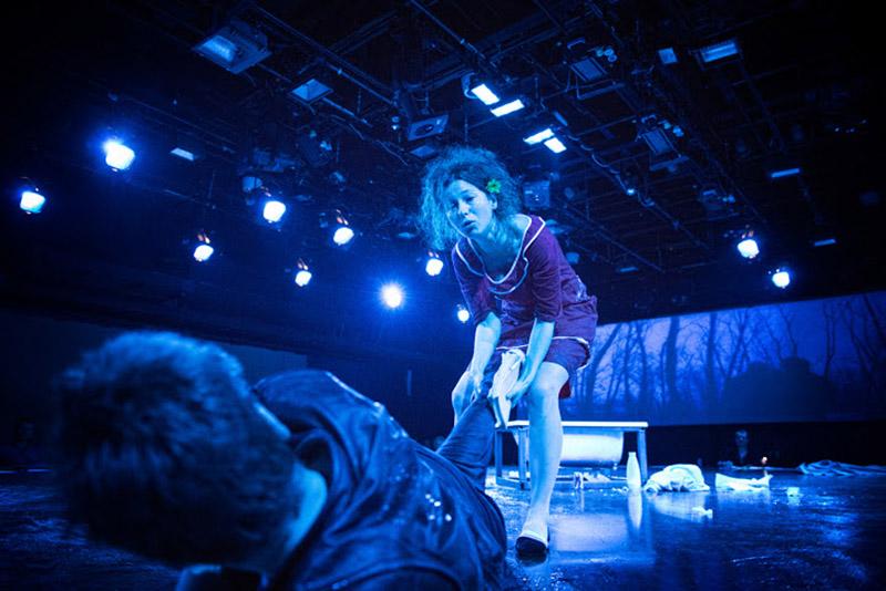 Scene from the performance Everybody Gets What They Believe In directed by Wiktor Rubin. On the photo: Julia Wyszyńska, photo: Magda Hueckel / Powszechny Theatre in Warsaw