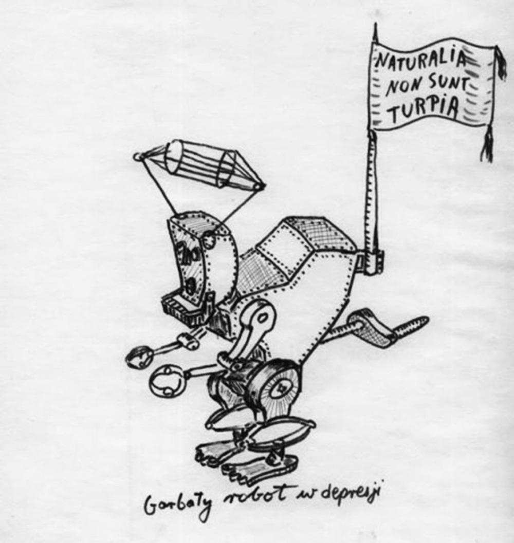 Stanisław Lem, Garbaty robot, drawing, photo: http://english.lem.pl/
