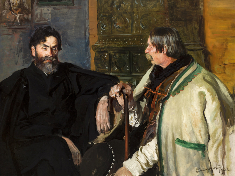 Picture of Stanisław Witkiewicz with Wojciech Rój by Leon Wyczółkowski, photo: Polish Scientific Publishers PWN