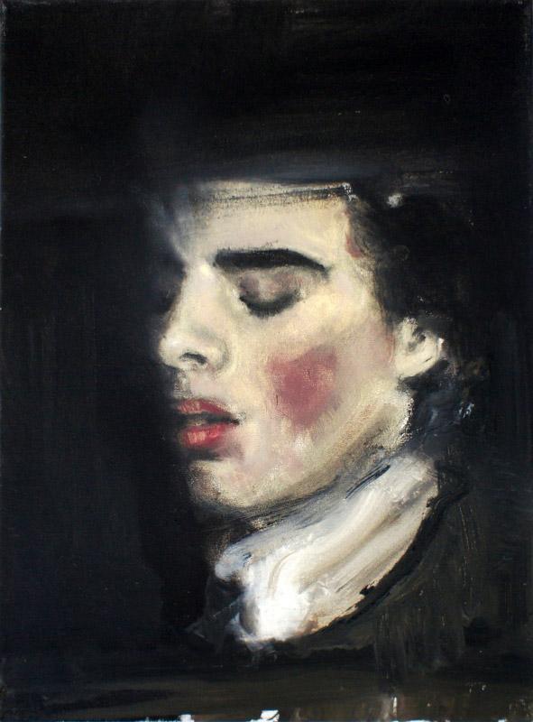 """Łukasz Stokłosa, """"Interview with the Vampire"""", 2012, olej na płótnie, 30 x 40 cm, fot. materiały promocyjne"""