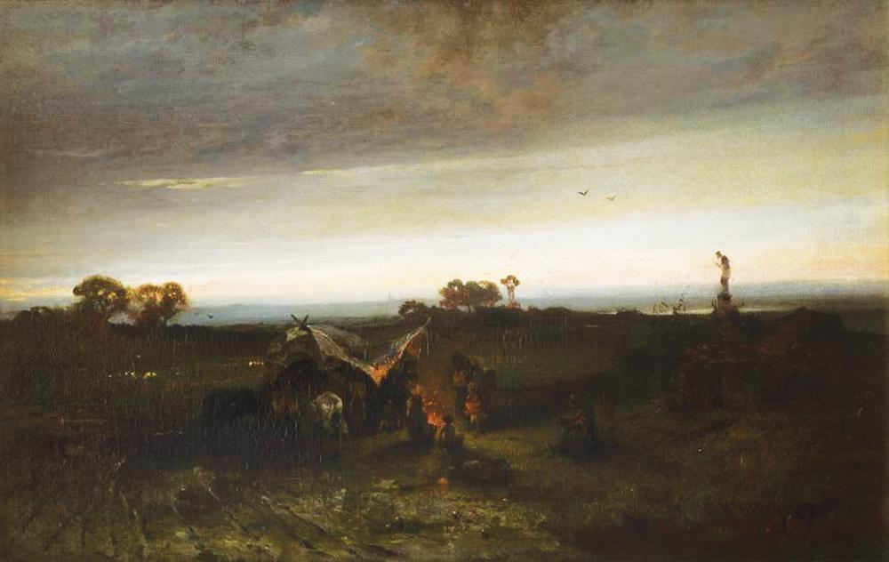"""Maksymilian Gierymski, """"Obóz Cyganów I"""", 1867-1868, wł. Muzeum Narodowe w Krakowie"""