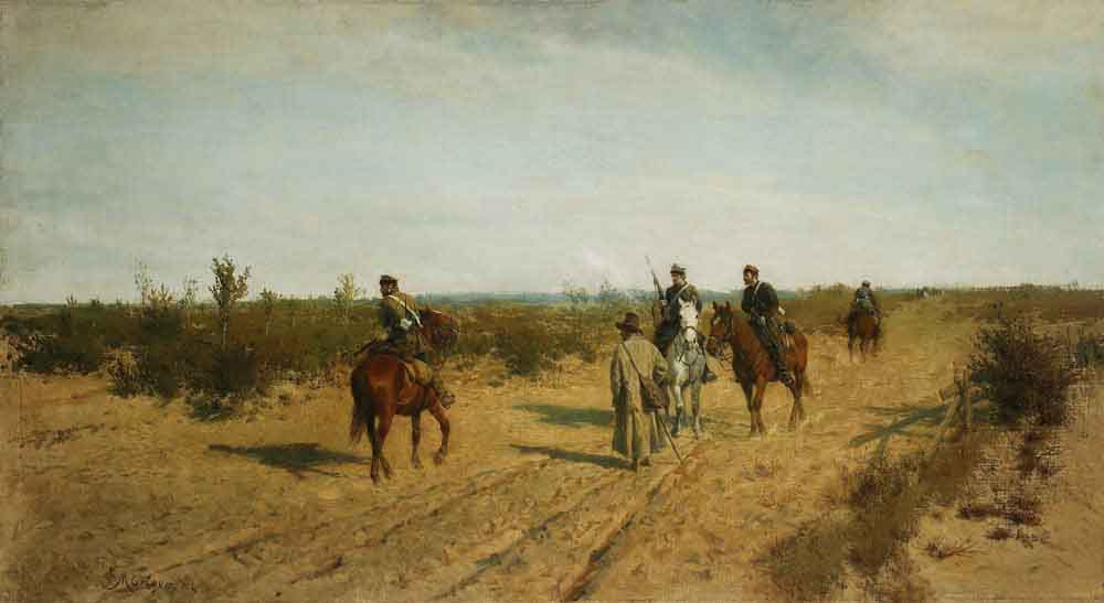 Maksymilian Gierymski, Insurgent Patrol / Patrol powstańczy, 1872-1873, property of the National Museum in Warsaw, photo: Piotr Ligier