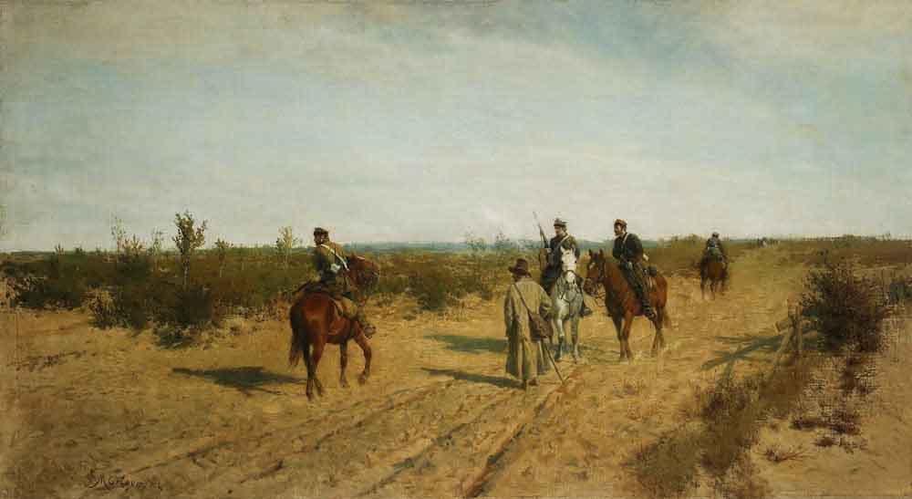 """Maksymilian Gierymski, """"Patrol powstańczy"""", 1872-1873, wł. Muzeum Narodowe w Warszawie, fot. Piotr Ligier"""