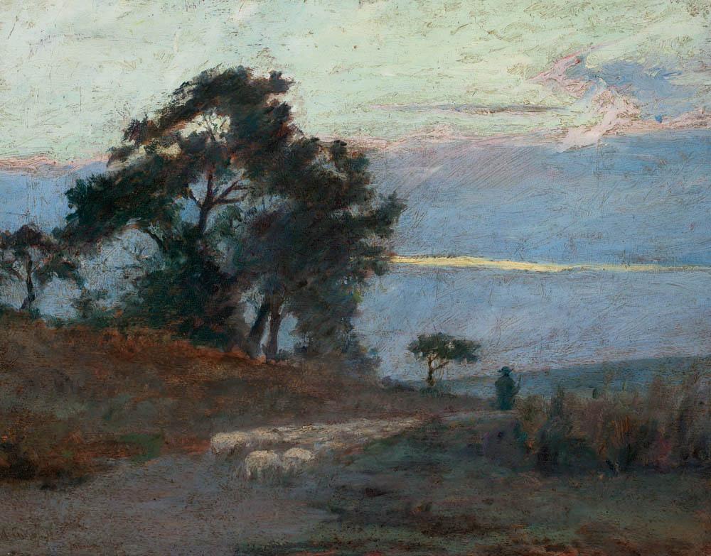 """Maksymilian Gierymski, """"Krajobraz o wschodzie słońca"""", 1869, wł. Muzeum Narodowe w Warszawie, fot. Krzysztof Wilczyński"""