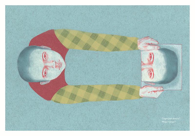 """Ilustracja z książki """"Maum. Dom duszy"""" autorstwa Heekyoung Kim, ilustrację: Iwona Chmielewska, fot.  wydawnictwo Warstwy"""