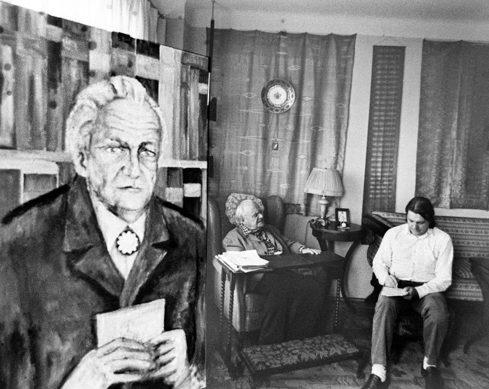 Wywiad Krzysztofa Kąkolewskiego z Melchiorem Wańkowiczem, 1972, Warszawa, fot. Aleksander Jałosiński / Forum