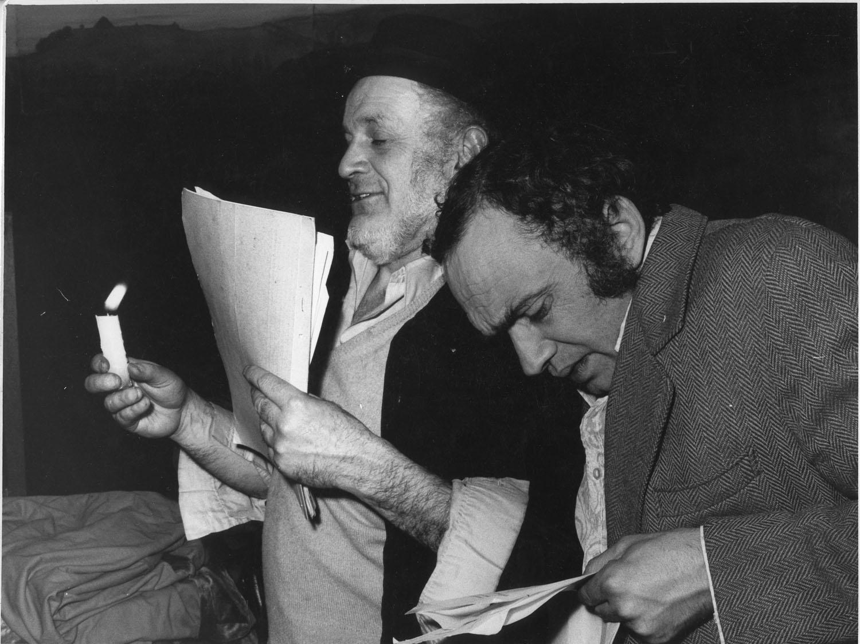 In the photo (L. to R.): Piotr Skrzynecki & Krzysztof Litwin, Kraków – Piwnica, mid-'70s, photo by Ryszard Kuryj, from Janusz R. Kowalczyk's book 'Wracając do moich Baranów', Trio, Warsaw 2012
