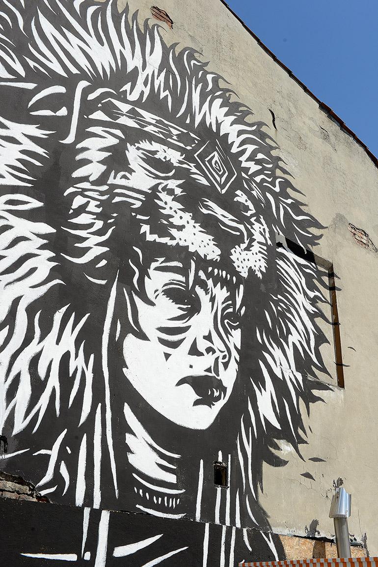 """Pil Peled, """"Yehuda"""", mural, Kraków, fot. dzięki uprzejmości Mall Wall Art"""