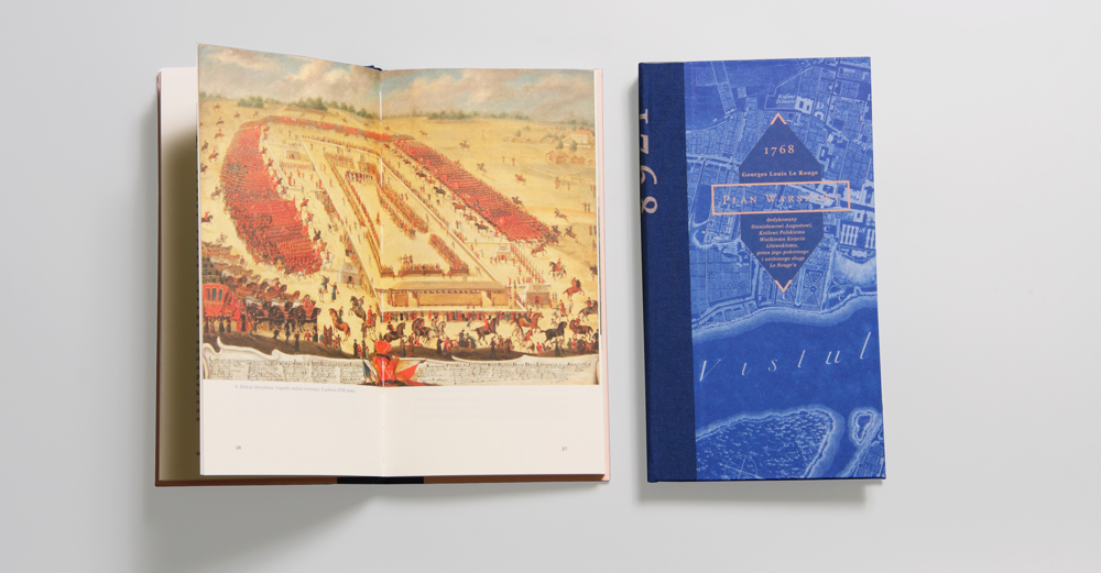 "Project by Anna Piwowar: ""Georges Louis Le Rouge - map of Warsaw 1768"", published by Museum of Warsaw, 2014"