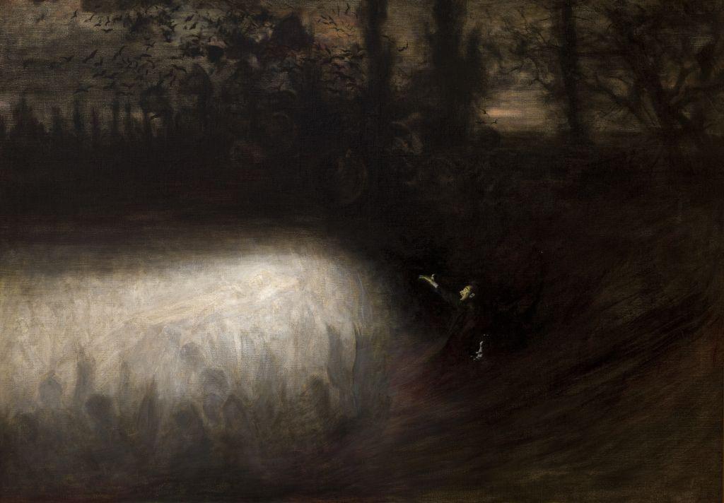 """Władysław Podkowiński, """"Marsz żałobny Chopina"""" 1894, olej na płótnie, fot. dzięki uprzejmości Muzeum Narodowemu w Krakowie"""